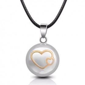 Collier bola de grossesse motif cœur