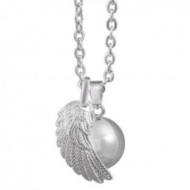 Collier bola de grossesse aile d'ange et boule