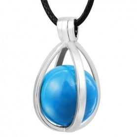 Collier bola de grossesse œuf avec boule bleue