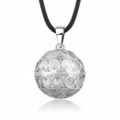 Collier bola de grossesse anneaux style vintage