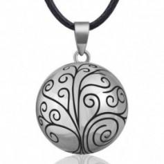 Collier bola de grossesse arbre gravé