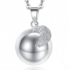Bola de grossesse aile d'ange et boule lisse argenté