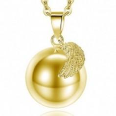 Bola de grossesse pendentif boule dorée et aile d'ange
