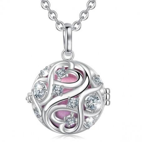 Collier bola de grossesse pendentif nœud infini avec cristaux