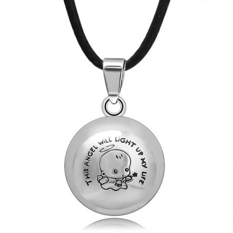Collier bola de grossesse cordon avec boule motif ange