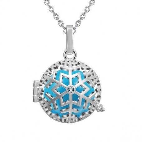Collier bola de grossesse flocon de neige avec cristal